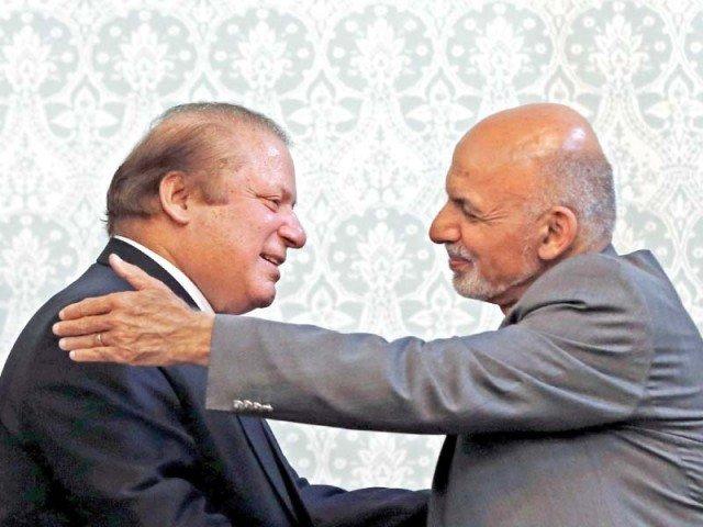 prime minister nawaz sharif meets afghan president ashraf ghani photo afp
