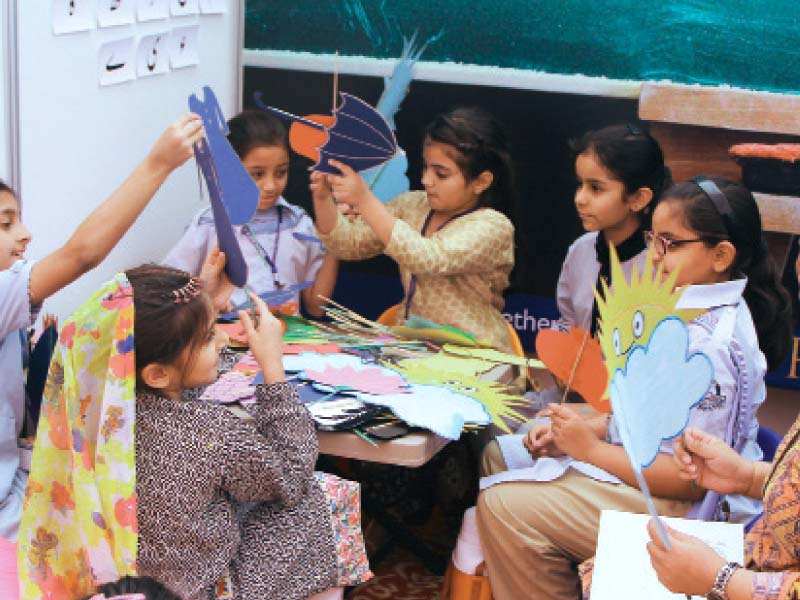 the children s literature festival began on friday with book launches and discussions photo express