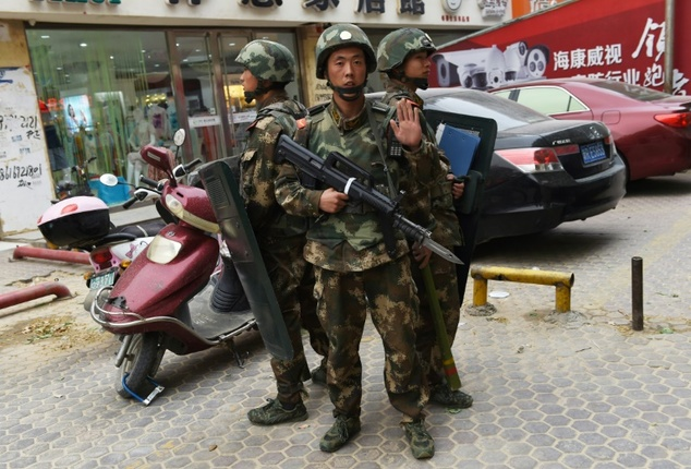 police kill four communist party office attackers in xinjiang