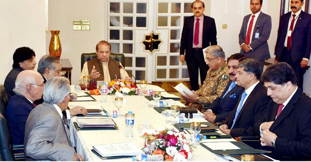 PM Nawaz chairing a meeting on foreign policy in Islamabad on January 3, 2017. PHOTO: INP