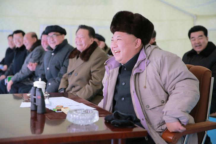 north korean leader kim jong un watches the masikryong ski competition 2016 in this undated photo released by north korea 039 s korean central news agency kcna december 20 2016 photo reuters