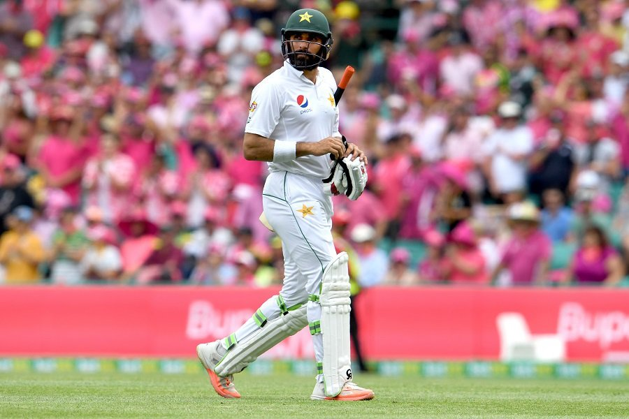 Misbah believes there are positives to be taken from the 3-0 defeat. PHOTO: AFP