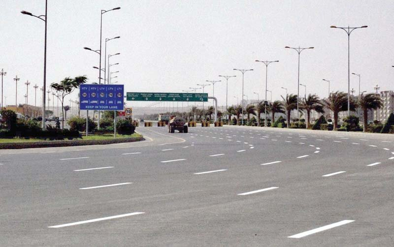 a view of the bahria town after showers in karachi photo bahria town