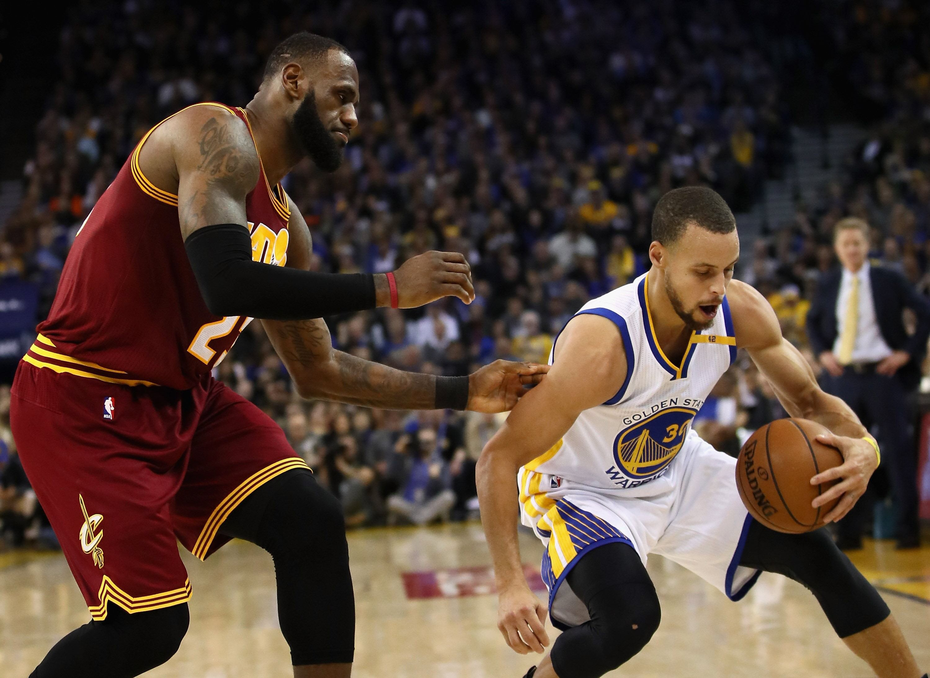 warriors torch cavs in potential nba finals rehearsal