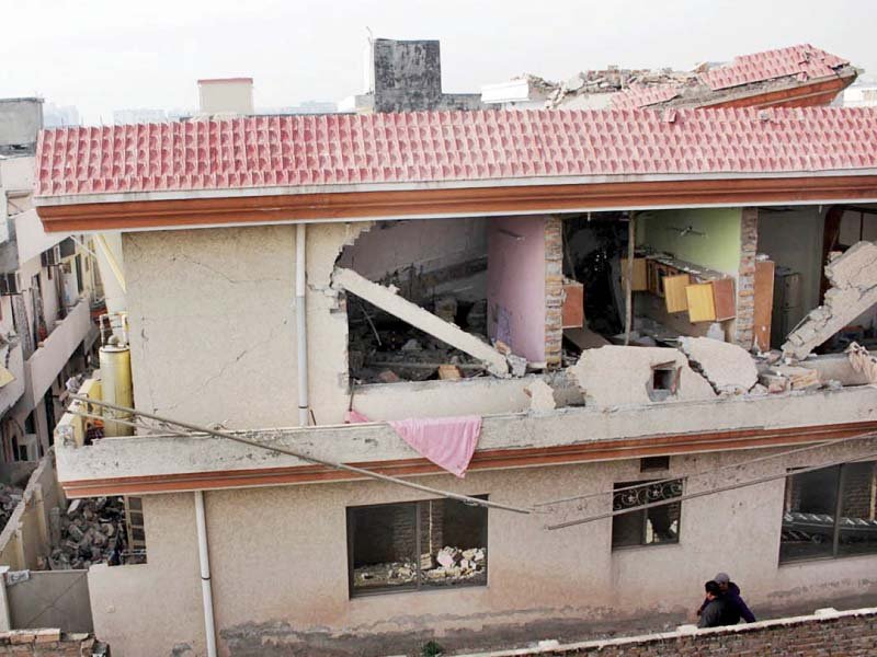 a view of the house where the explosion occurred photo online