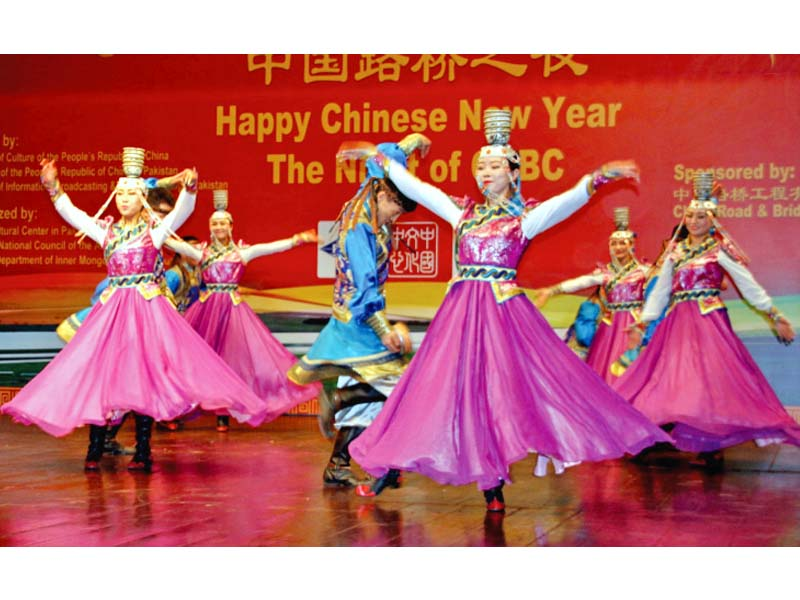 chinese artists present colourful performance on eve of chinese new year photo express