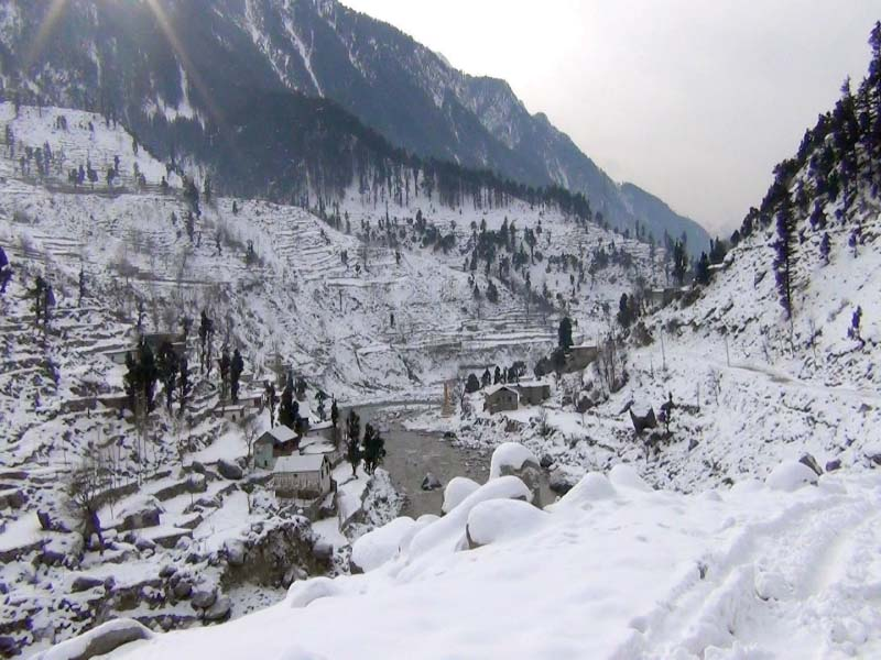snow covered kalam sees influx of tourists