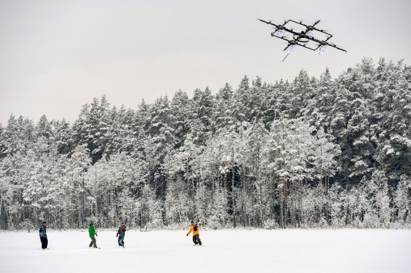 the drone prototype is the work of latvian specialists aerones photo afp