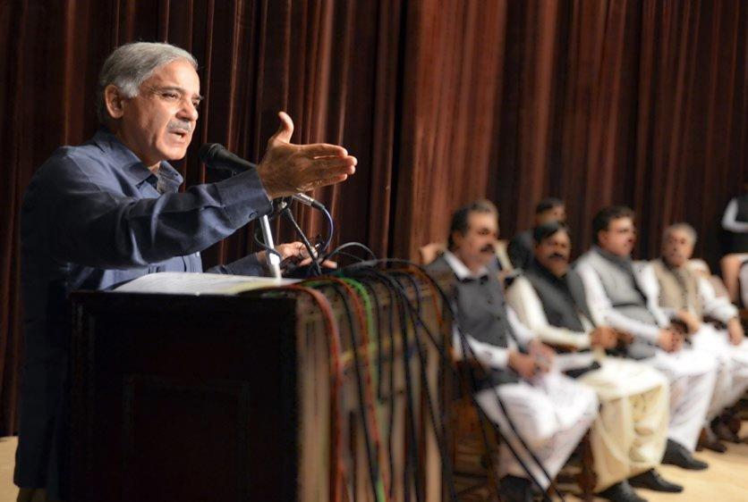 blame game sit ins hinder development says shehbaz