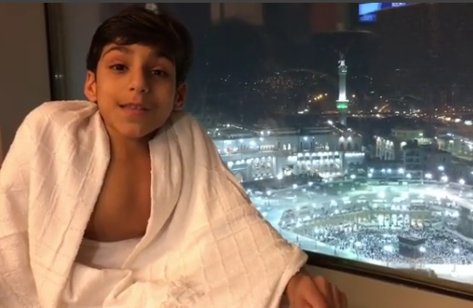 differently abled child performs umrah without wheelchair