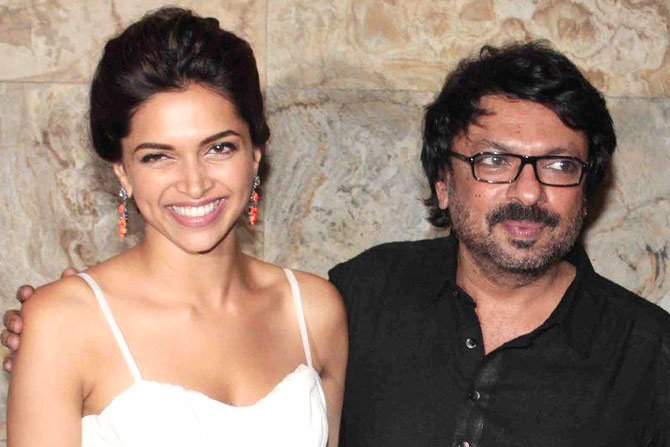 sanjay leela bhansali with deepika padukone photo file