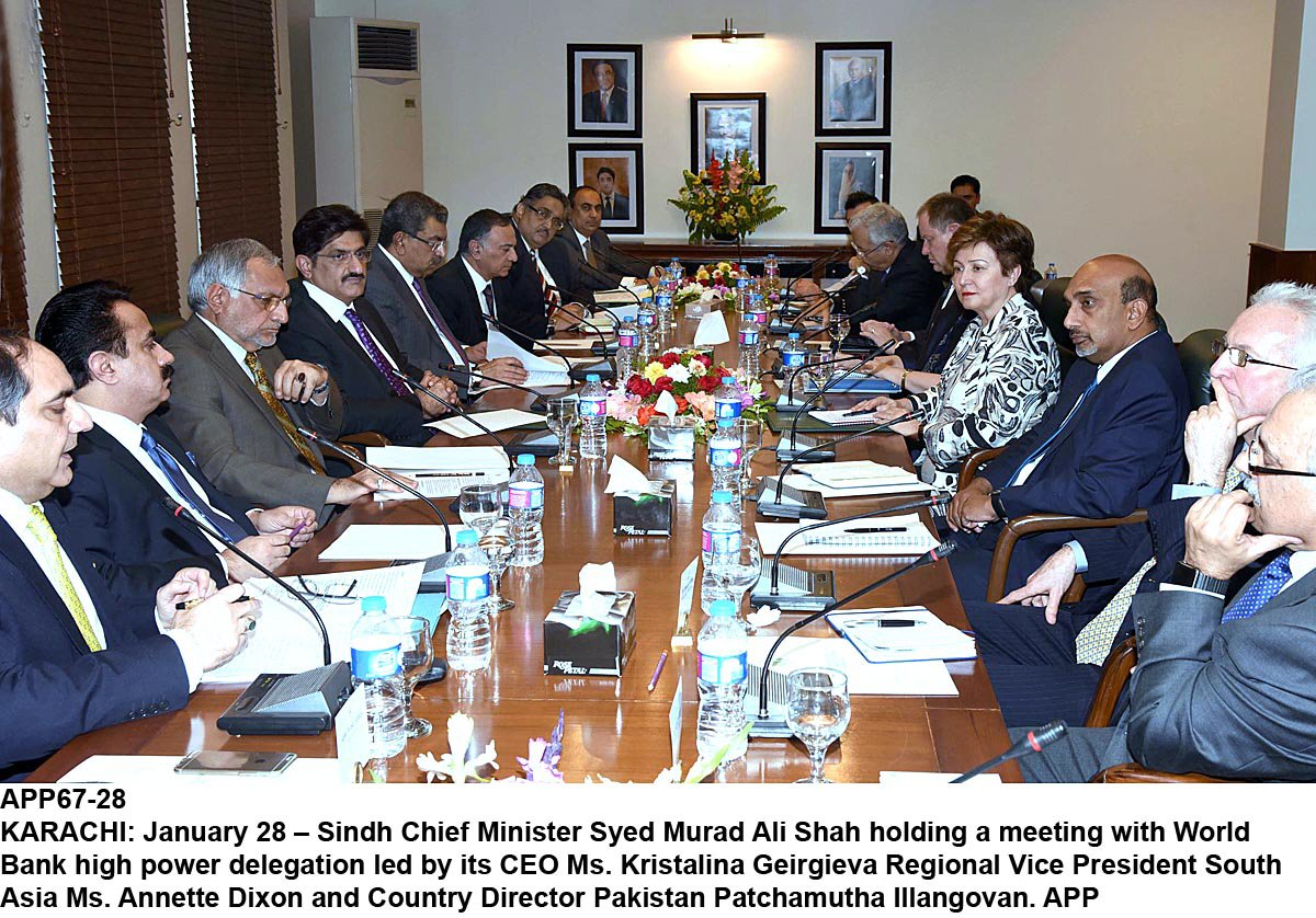 sindh cm murad ali shah holding a meeting with a world bank high power delegation photo app
