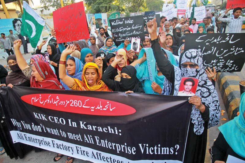 of work and ethics baldia families protest as kik marks end of payments