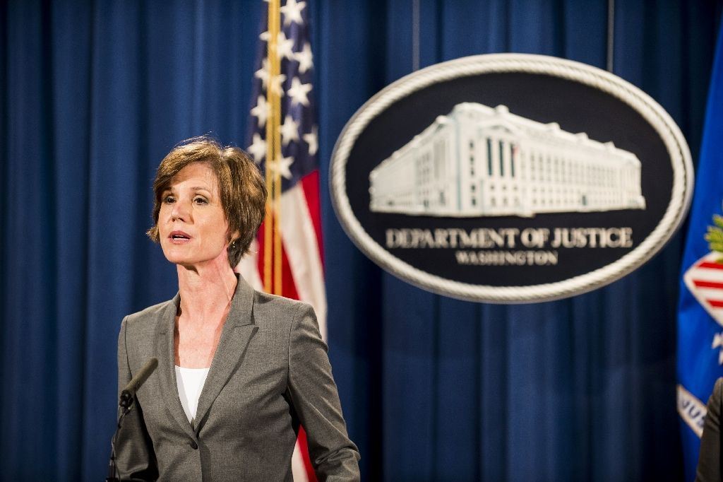 yates had expressed reservations over the legality and morality of trump 039 s executive orders photo afp