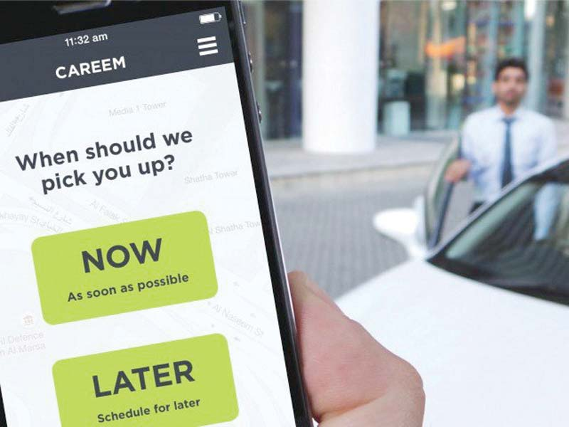 careem uber and other such cab services were recently served notices by the authorities in punjab and sindh provinces to suspend their illegal operations for want of mandatory registration photo file