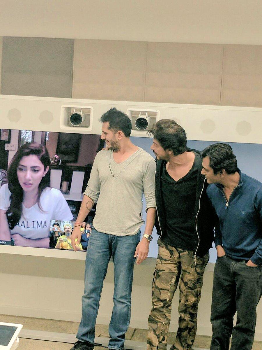 mahira khan joins raees team for success celebrations via video link photo twitter