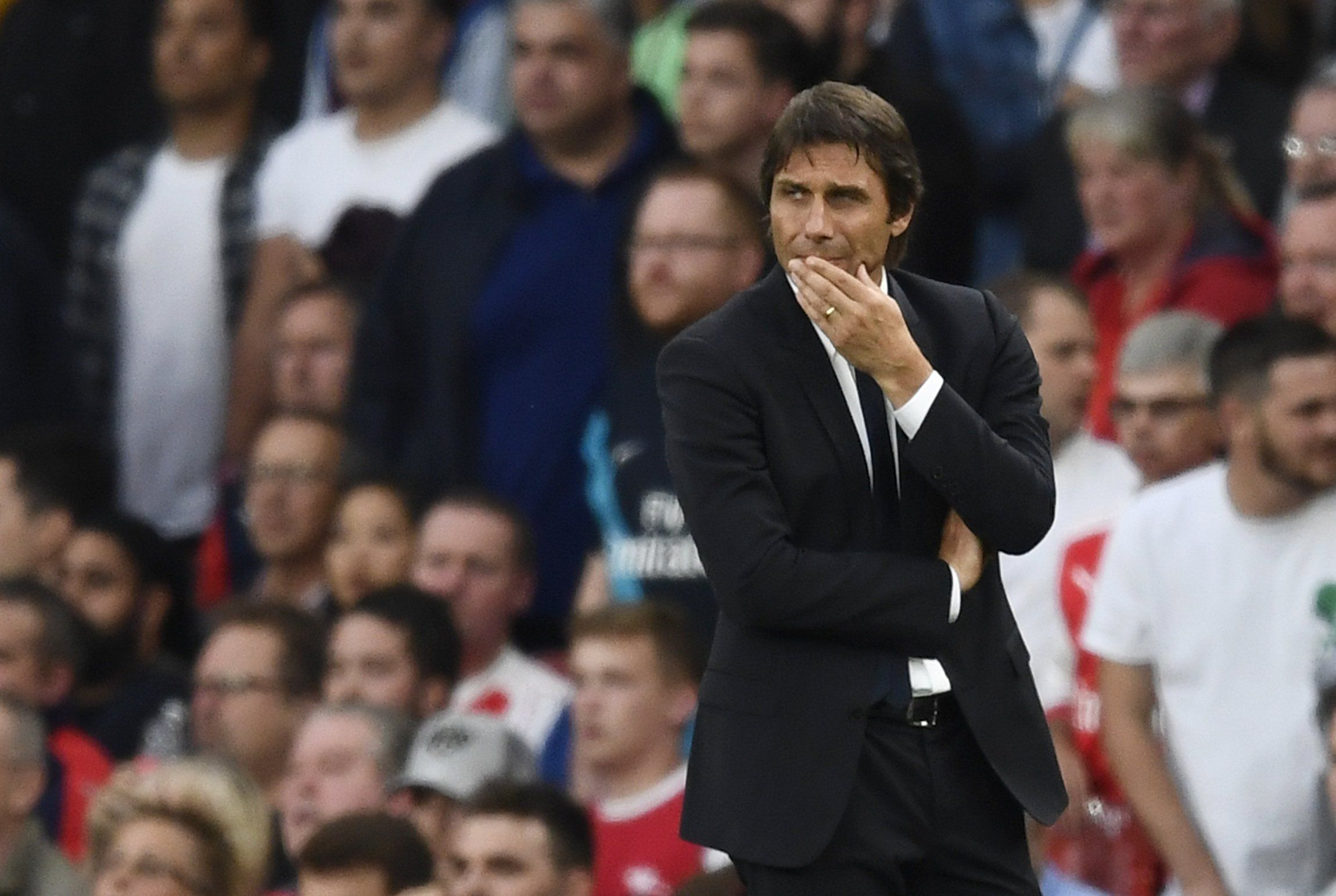 conte lost 3 0 in the previous meeting against the gunners photo reuters