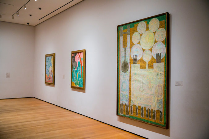 pieces by iranian iraqi and sudanese artists have been put on display at the museum of modern art photo new york times