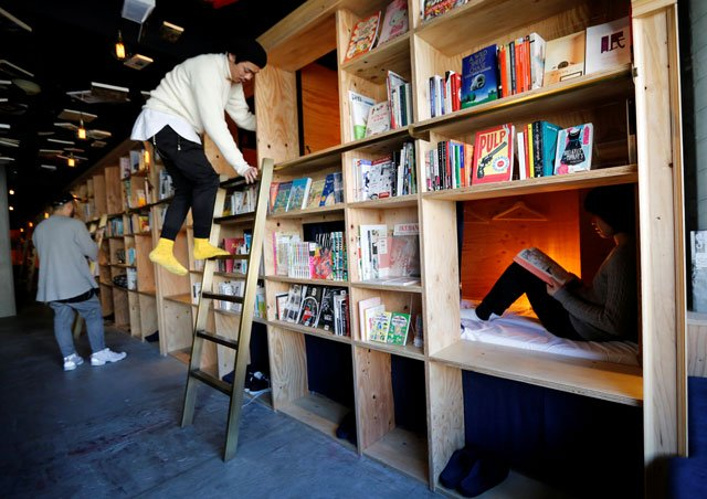 cabins are seen inside quot book and bed quot a bookshop themed capsule hotel in tokyo japan january 19 2017 photo reuters