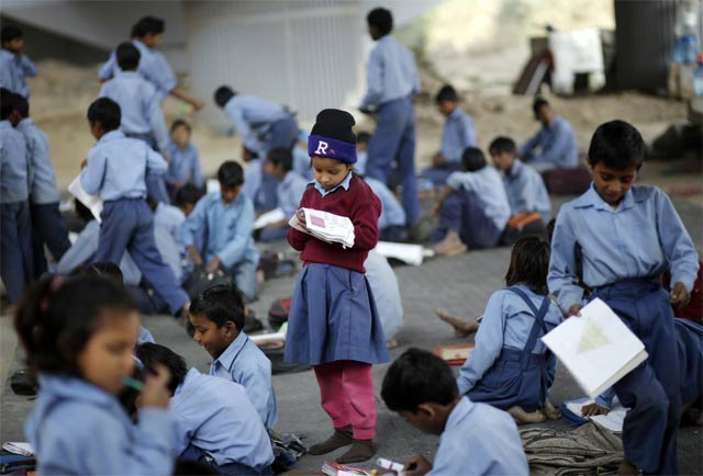 for street kids in space starved indian city school is in a container