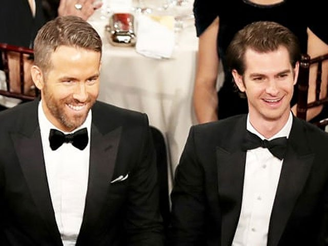 Ryan Reynolds and Andrew Garfield. PHOTO: US MAGAZINE