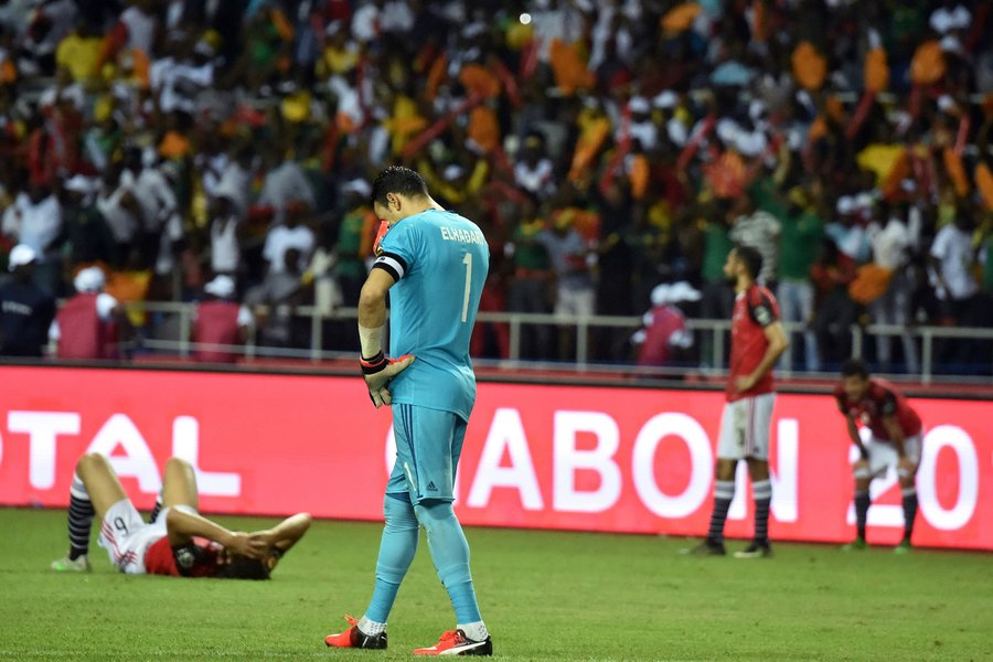 egypt 039 s goalkeeper essam el hadary walks off the pitch after his side lost 2 1 to cameroon in the 2017 africa cup of nations final photo afp