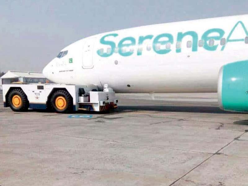 a serene air plane was damaged by a tug photo inp