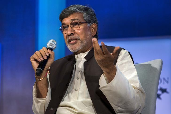 kailash satyarthi 2014 nobel peace prize laureate takes part in a panel during the clinton global initiative 039 s annual meeting in new york september 27 2015 photo reuters