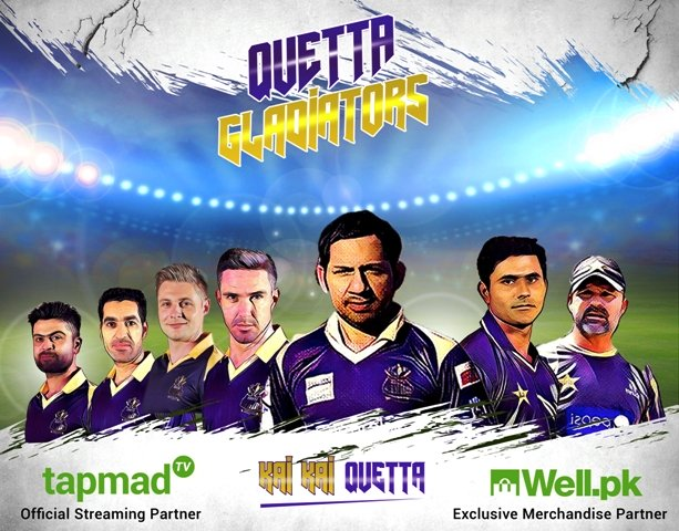 quetta gladiators partner with well pk and tapmad tv