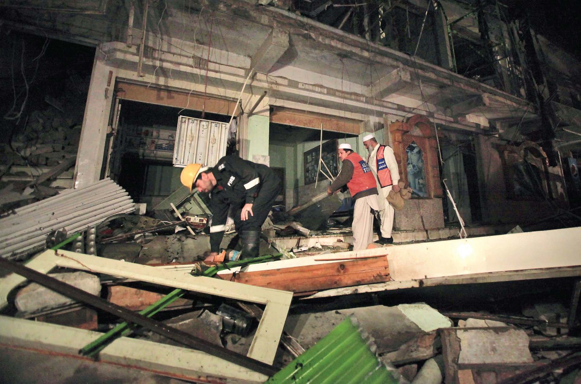 a woman and her two children were killed in the explosion which police speculated to be the result of a gas leakage photo reuters file