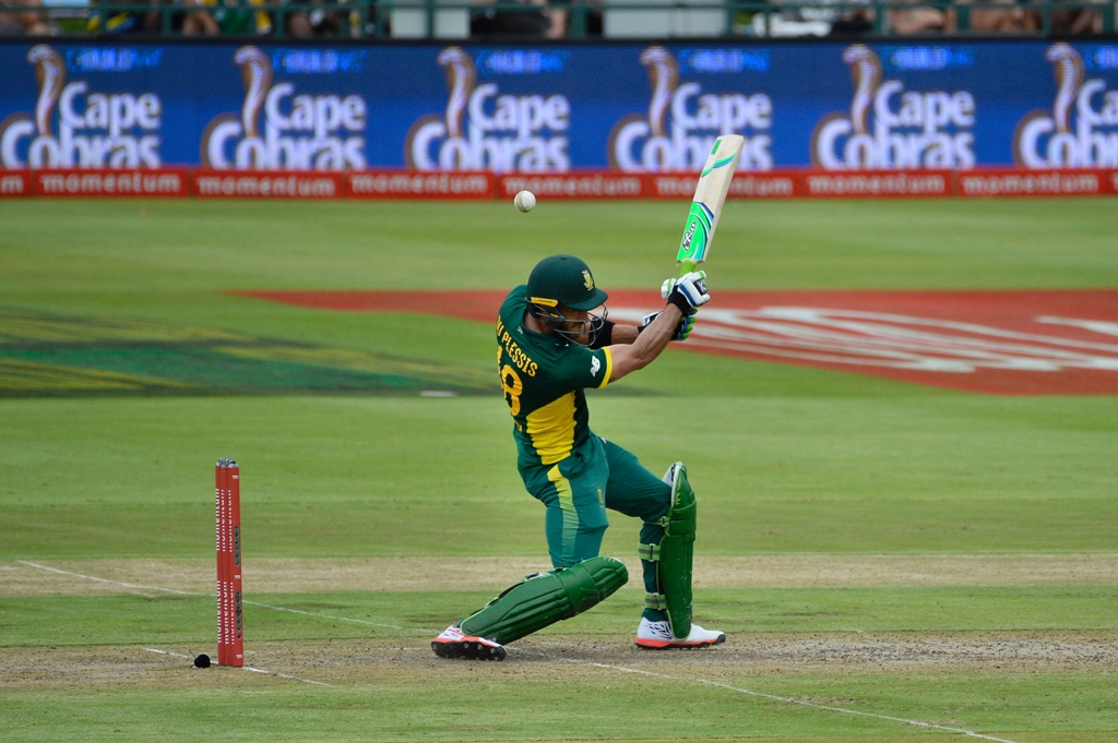 du plessis hit 185 only three short of the south african odi record as south africa piled up 367 for five photo afp