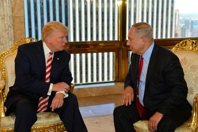 israeli prime minister benjamin netanyahu r speaks to republican u s presidential candidate donald trump during their meeting in new york september 25 2016 photo reuters