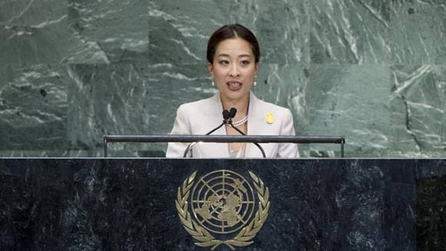 princess bajrakitiyabha addresses a u n general assembly high level meeting on the rule of law at u n headquarters in new york photo courtesy un