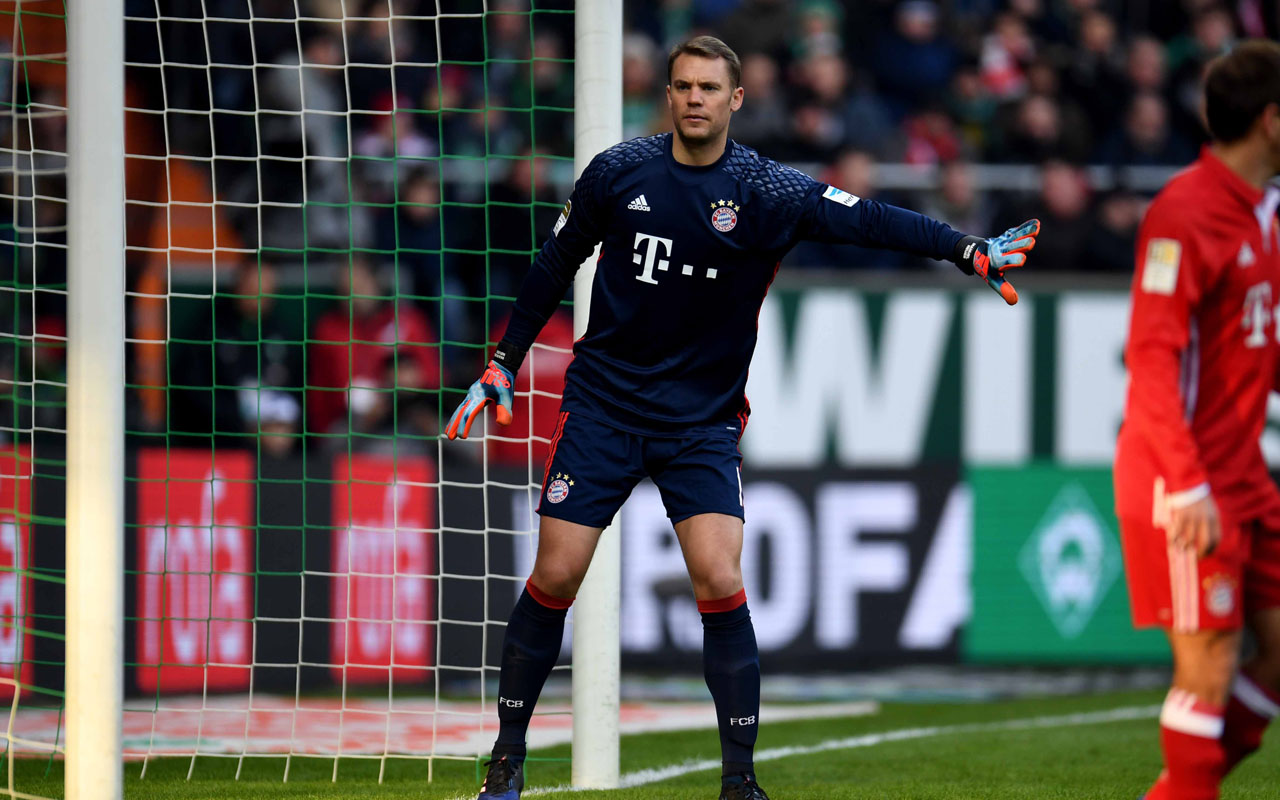 malli forced neuer into spectacular parries in quick succession as bayern endured a tense final few minutes photo afp