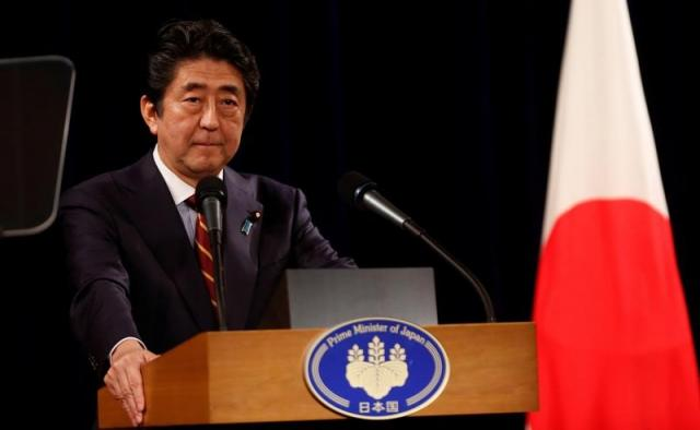 japan 039 s prime minister shinzo abe speaks at a news conference in hanoi vietnam january 16 2017 photo reuters