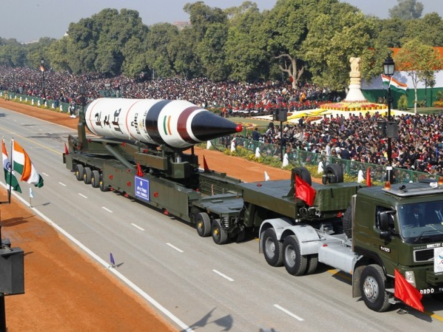 a surface to surface agni v missile is displayed during the republic day parade in new delhi photo reuters file