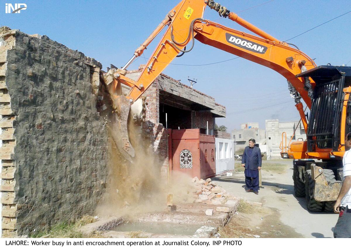 at least four shops built illegally and two houses in cantonment areas were also demolished photo inp
