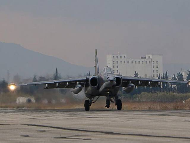 a russian sukhoi su 34 bomber lands at the russian hmeimim military base in latakia province in the northwest of syria on december 16 2015 photo afp