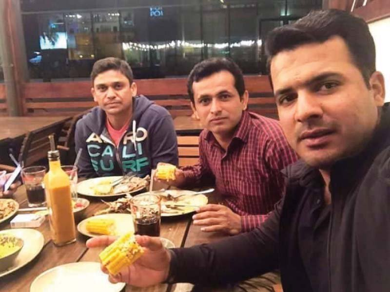 sharjeel khan and khalid latif with the alleged match fixer photo inp