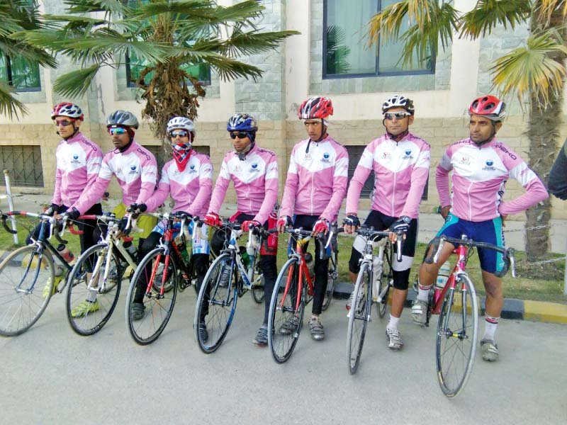 cyclists who participated in tour de galiyat rest after reaching nathiagali photo express