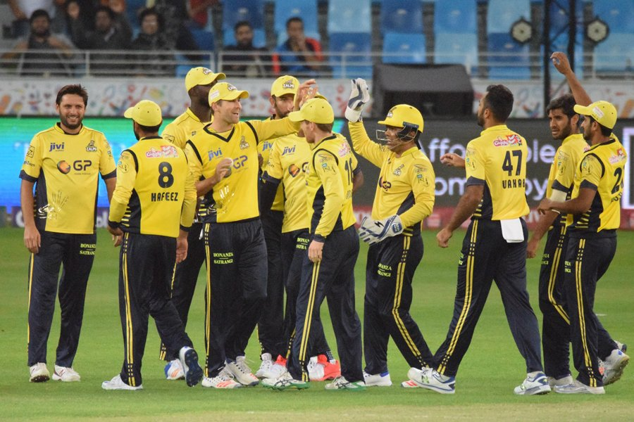 peshawar zalmi outlasted lahore qalandars by three wickets after bowling out their opponents for just 59 photo courtesy pcb