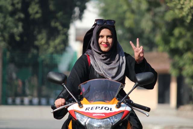 this hijab clad delhi super biker is leaving gender stereotypes in the dust