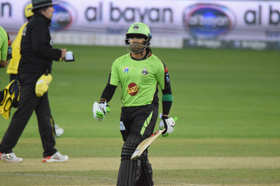 umar akmal was dismissed for zero against peshawar zalmi photo courtesy pcb