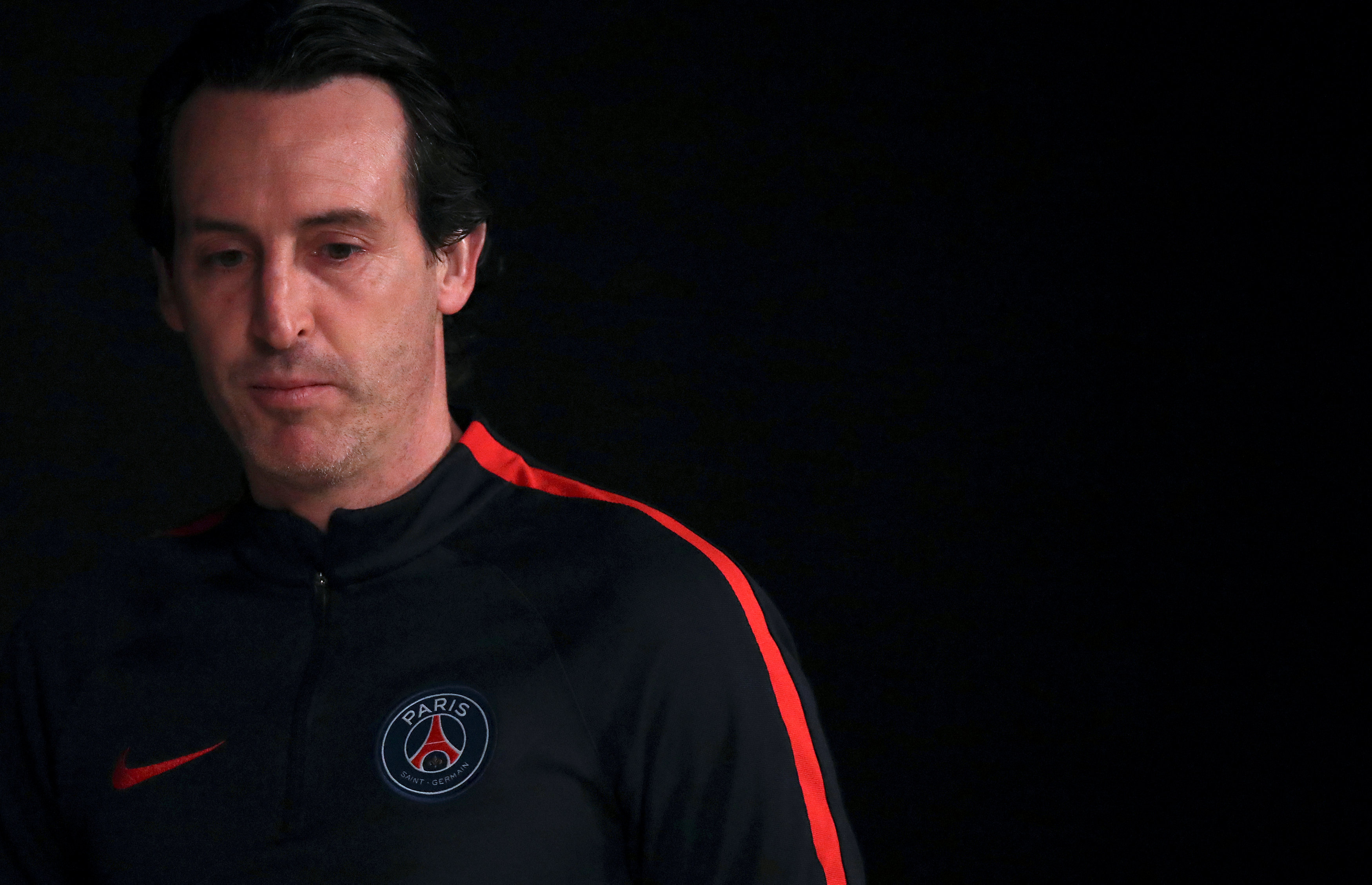 paris st germain coach unai emery attends a news conference on february 13 2017 photo reuters