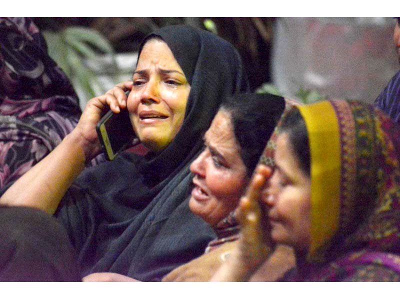 relatives of victims weep inconsolably outside ganga ram hospital photo app
