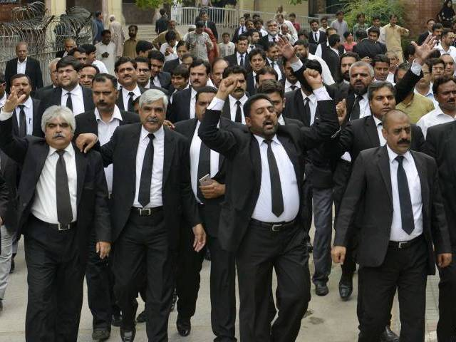 reaction lawyers to boycott courts today