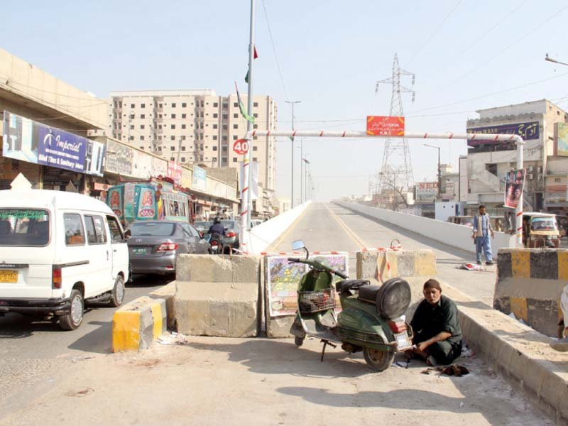 photo opportunity korangi crossing flyover opened for public two days after inauguration