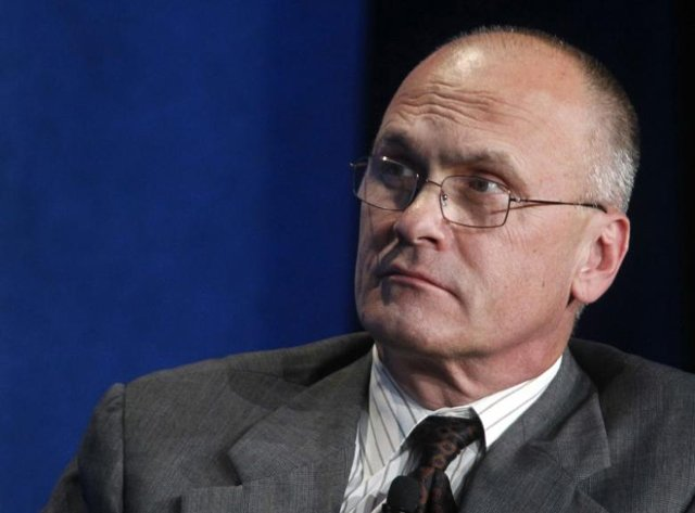 andrew puzder ceo of cke restaurants takes part in a panel discussion titled 039 039 understanding the post recession consumer 039 039 at the milken institute global conference in beverly hills california april 30 2012 photo reuters