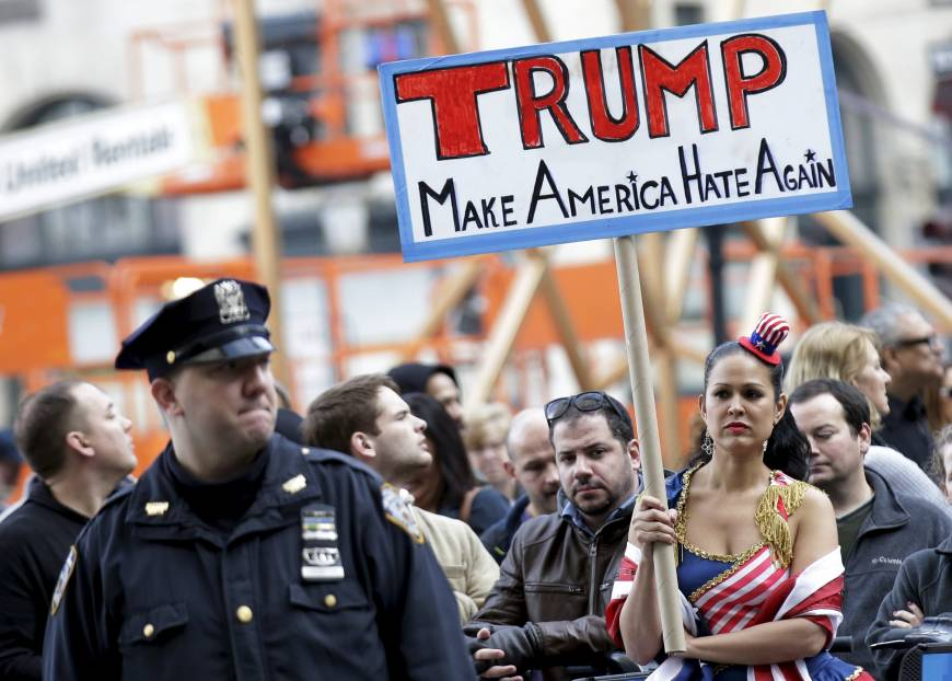 people take part in an anti donald trump pro immigration protest outside photo reuters