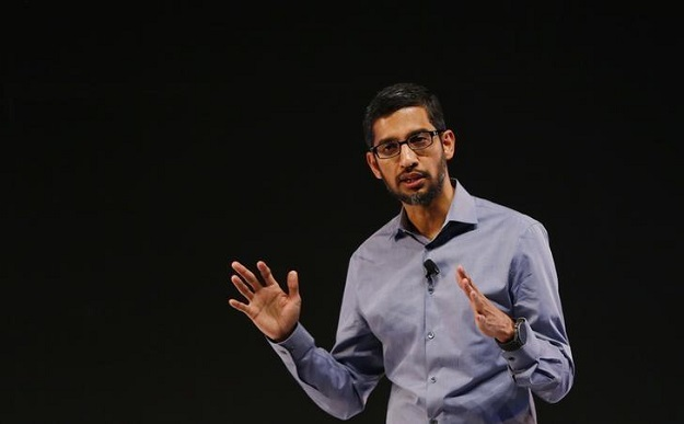 google ceo sundar pichai gestures as he addresses a news conference in new delhi india december 16 2015 photo reuters